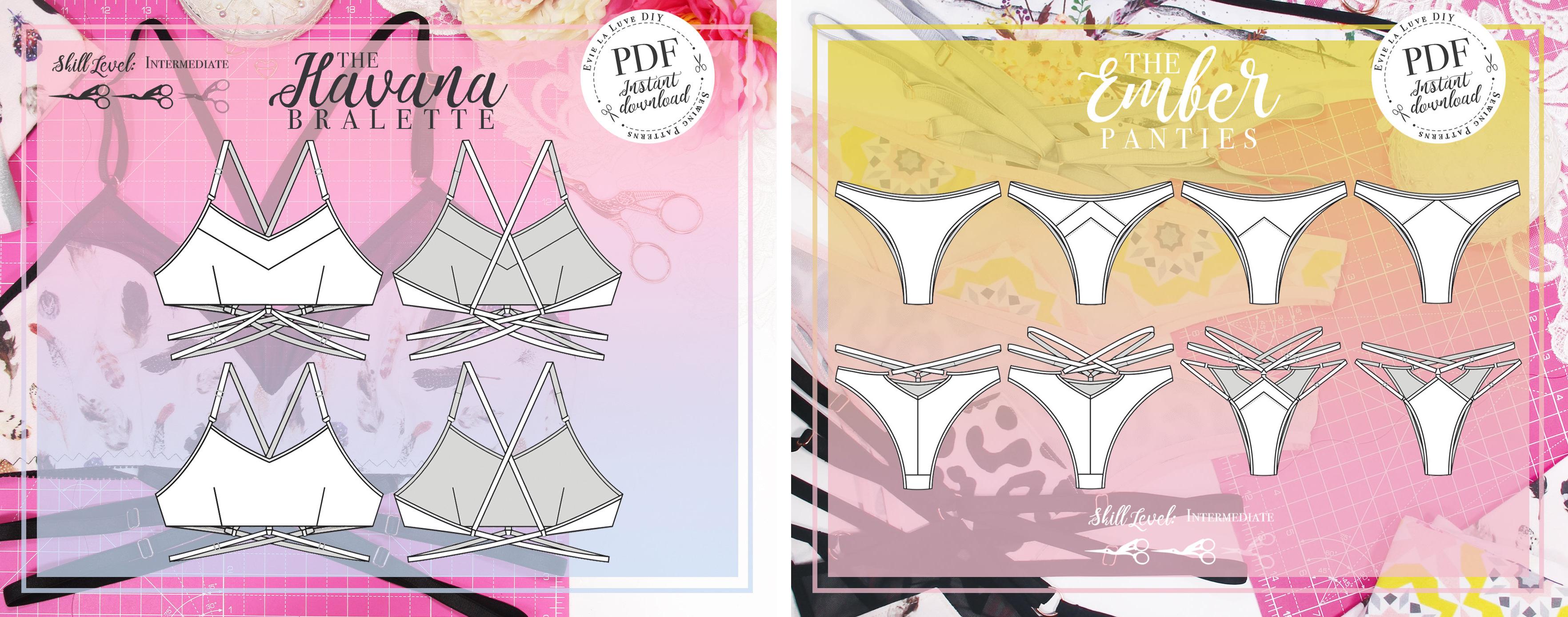Evie la Luve Havana Bralette and Ember Panties