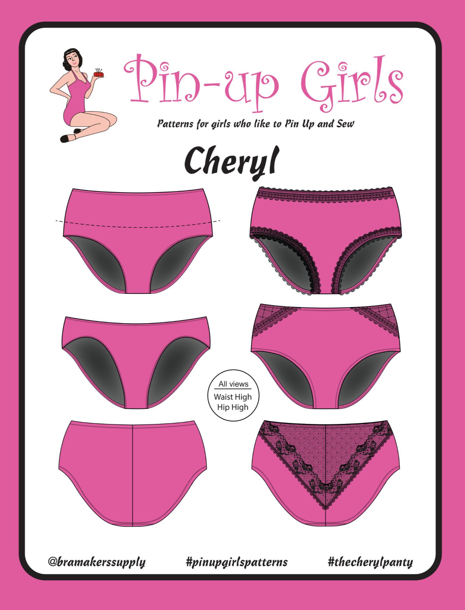 Bra Makers Supply Pin Up Girls Cheryl Back Seam Panty Pattern