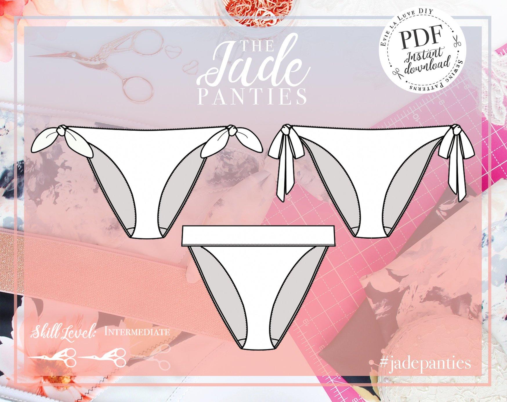 Evie la Luve Jade tie Side Panties
